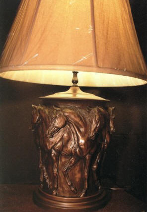 Prancing Horses Lamp - Nancy Weimer Belden