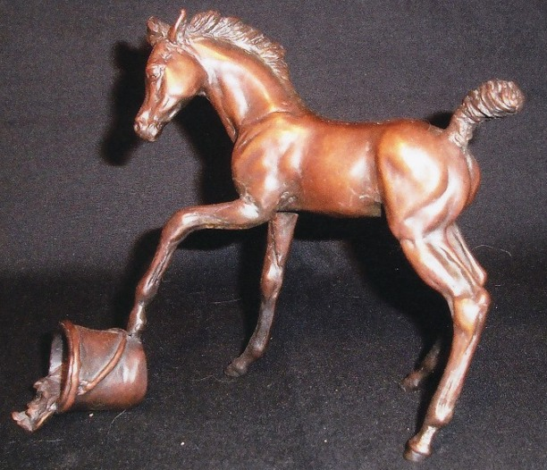 Playful Foal Bronze Sculpture - Nancy Weimer Belden